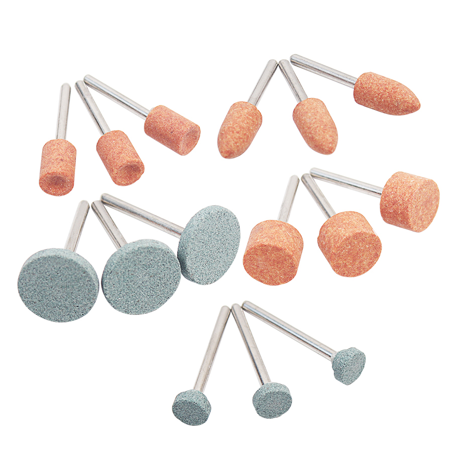 15pcs/lot Grinding Stone Wheel Head Dremel Tools Accessories Abrasive Mounted Stone For Dremel Rotary Tools