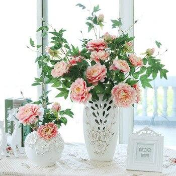 Kunstmatige Bloemen Bruiloft Decoratie Pioen Bloemen Zijde Flores