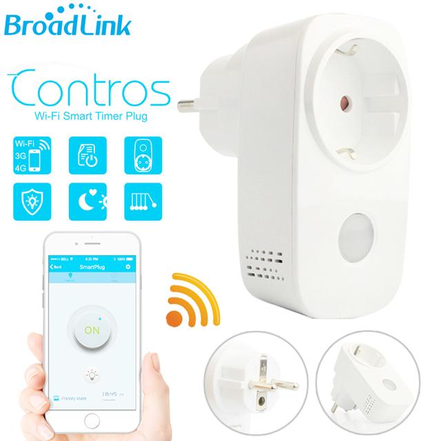 Broadlink casa inteligente wifi inteligente timer outlet enchufe del zócalo de la ue NOS 15A Interruptor de Salida de Control Remoto Inalámbrico APP A Través de Android IOS