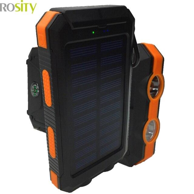 Для XIAOMI HUAWEI Новый Портативный Солнечный Power Bank Настоящее 20000 мАч powerbank Внешняя Батарея DUAL USB Порты Зарядное Устройство Автомобильное Зарядное Устройство