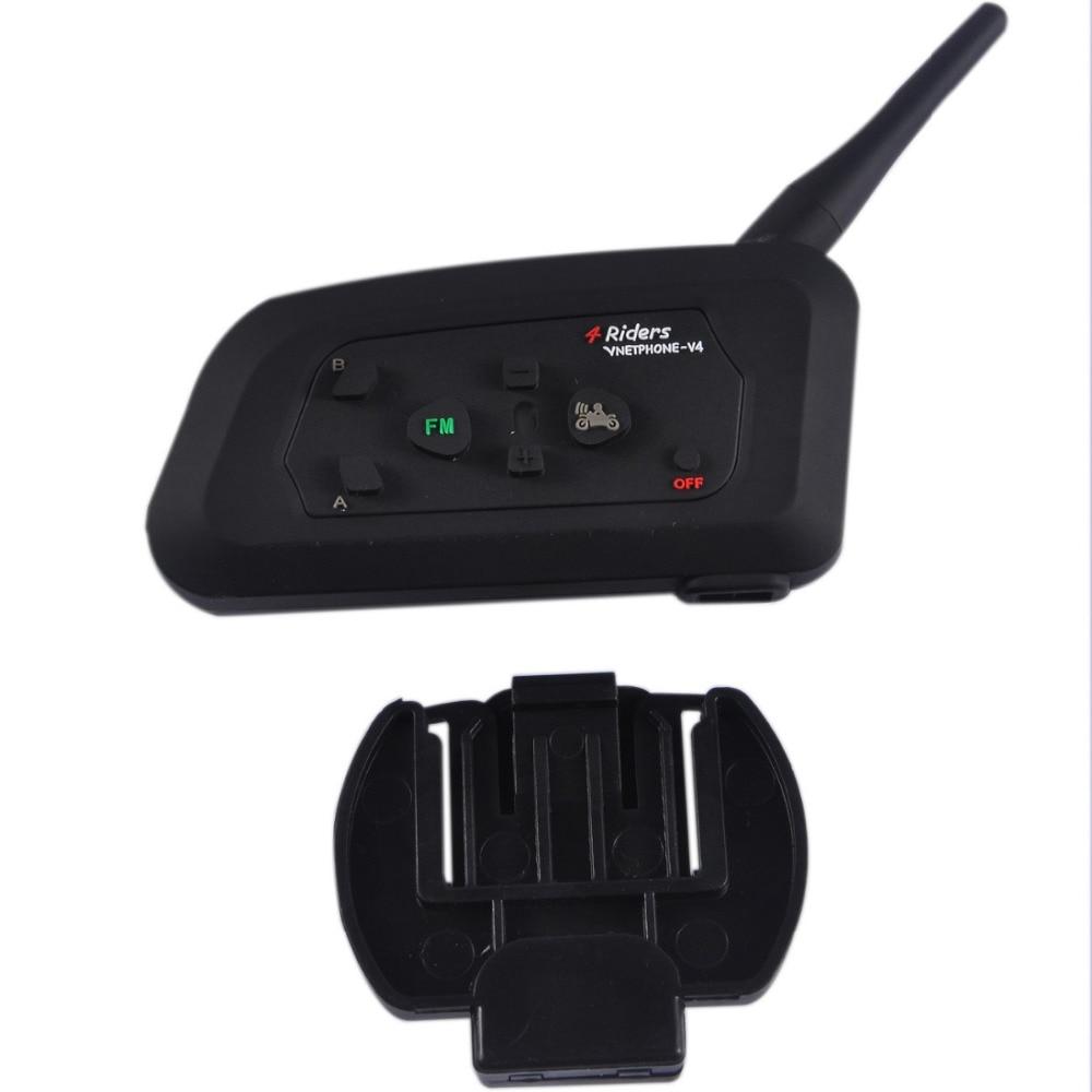 Bluetooth intercom V4C in Helmet Headsets Earphone Referee Headset Full Duplex 4 users Bluetooth Communication System Intercom