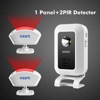 WIRELESS MOTION SENSOR CURTAIN PIR DETECTOR DOOR GATE ENTRY BELL CHIME ALERT ALARM DOORBELL FOR GSM