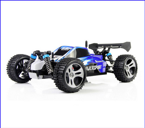 Wltoys A959 2.4 G rádio controle remoto RC brinquedo carro criança modelo 1:18 novo rodas de borracha à prova de choque de alta velocidade Off Road