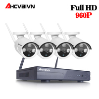 Home Security Camera CCTV System Wireless DVR 4CH IP CCTV Kit HD 960P P2P IR Night Vision Plug Play Video Surveillance Wifi Kit