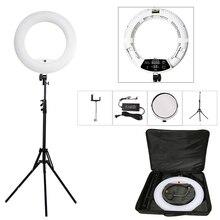 """Yidoblo FD 480II 18 """"estúdio de fotografia pode ser escurecido led anel lâmpada 480 leds luz de vídeo lâmpada iluminação fotográfica + suporte (2 m) + saco"""