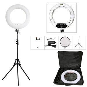 """Image 1 - Yidoblo FD 480II 18 """"写真スタジオ調光対応 led リングランプ 480 led ビデオライトランプ写真照明 + スタンド (2 メートル) + バッグ"""