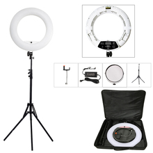 Светодиодная кольцевая лампа Yidoblo FD 480II 18 дюймов для фотостудии с регулируемой яркостью, 480 светодиосветодиодный, S лампа для видеосъемки, освещение для фотосъемки + подставка (2 м) + сумка