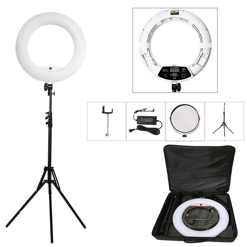 Yidoblo White FD-480II 18 Studio Dimmable LED Ring lamp Sets 480 LED Video Light Lamp Photographic Lighting + stand (2M)+ bagYidoblo White FD-480II 18 Studio Dimmable LED Ring lamp Sets 480 LED Video Light Lamp Photographic Lighting + stand (2M)+ bag