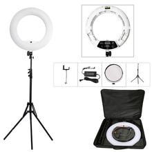 """Yidoblo Beyaz FD-480II 18 """"stüdyo Dim LED lambası Yüzük Setleri 480 LED Video Işık Lambası Fotografik Aydınlatma + standı (2 M) + çanta"""