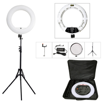 Yidoblo White FD 480II 18 Studio Dimmable LED Ring lamp Sets 480 LED Video Light Lamp Photographic Lighting + stand (2M)+ bag