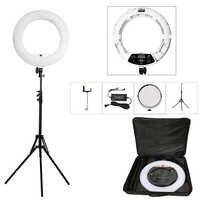 Yidoblo blanco FD-480II 18 Estudio regulable LED anillo de juegos 480 lámpara de luz LED para video iluminación fotográfica + soporte (2 M) + bolsa