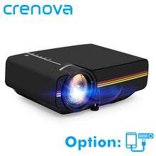 CRENOVA Filaire Sync Affichage vidéo projecteur Pour Home Cinéma projecteur de films Avec HDMI USB VGA AV YG400 YG410 MiniBeamer Proyector