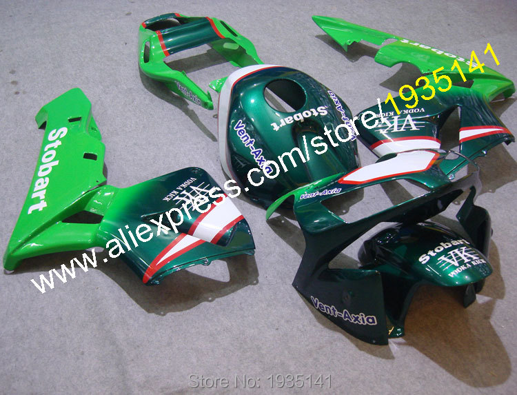 Hot Sales,For Honda CBR600RR 2003 2004 Bodykits 03 04 CBR600 RR Green ABS Motorbike Motorcycle Fairing Kit (Injection molding)
