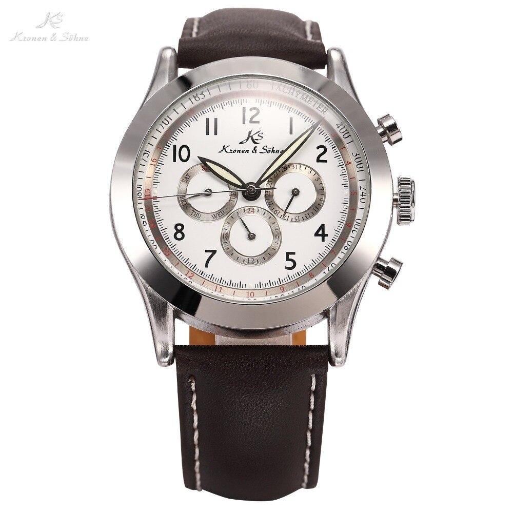 Ks Navigator Luxury Brand Watches Men Vintage Male Clock Relojes Automatic Self Wind Watch Vintage Men Mechanical Watch / KS126