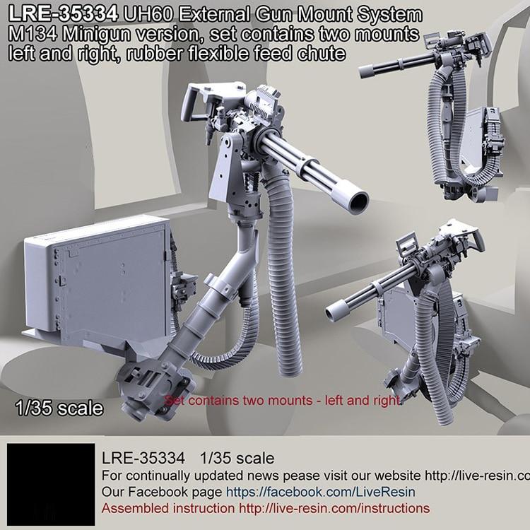 1/35 resina modelo kit HH-60G externo sistema de arma m134 migiun sem pintura e sem montagem