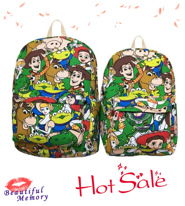 IVYYE Sale New Toy Story Woody Buzz Canvas Backpacks Rucksacks Cartoon Backpack Casual Student Bags Travel Knapsack Unisex New