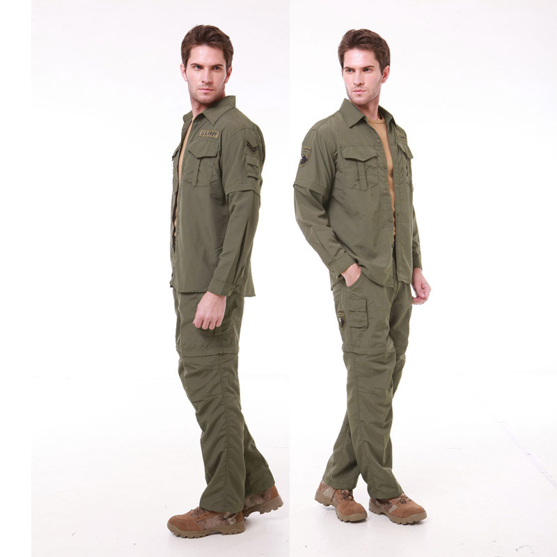3 Style Mens Military Style Usa Army Camouflage Fighting Cargo Sets Shirt + Pants Suit Long Sleeve Perspiration