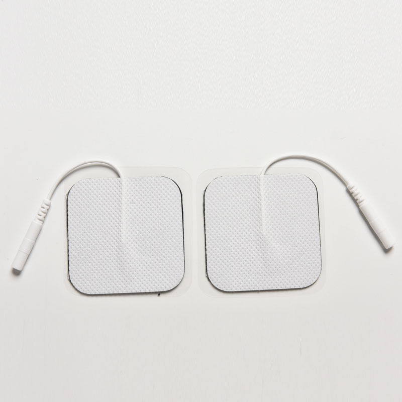 200Pairs/Pack TENS/EMS Digital Therapy Massager Conductive Pads Nonwoven Silicone Adhesive Electrode Patches With Pin Wire hot sale free shipping 50pairs pack nonwoven replacement silcone adhesive tens massager patches physiotherapy electrode pads