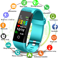 LIGE 2019 New Smart Bracelet Heart Rate Blood Pressure Monitor Wrist Fashion Sport Fitness Tracker Pedometer Band