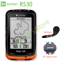 Bryton Rider 530 GPS Bicycle computer navigation Bike Speedometer  Waterproof Bluetooth ANT+ (iGPSPORT Speed/Cadnece/HR sensor)