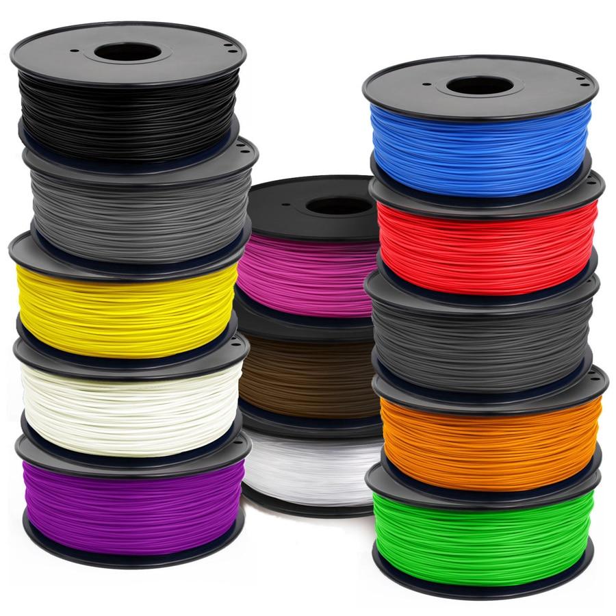 MakerBot/RepRap/UP/Mendel 20 colors Optional 3d printer filament PLA/ABS 1.75mm/3mm 1kg plastic Rubber Consumables Material 3d printer parts filament for makerbot reprap up mendel 1 rolls filament pla 1 75mm 1kg consumables material for anet 3d printer