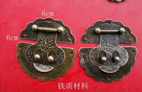 30pcs/lot 6cm Bronze Large Flower Buckle Archaize Fastener Padlock Hasp Clasp Lock Jewellery Wooden Box Drawer Case Cabinet DIY