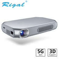 Rigal RD603 Mini DLP Projector Android WiFi Bluetooth LED Proyector Pico Pocket HD Portable Shutter Active 3D Projector 4200mAh
