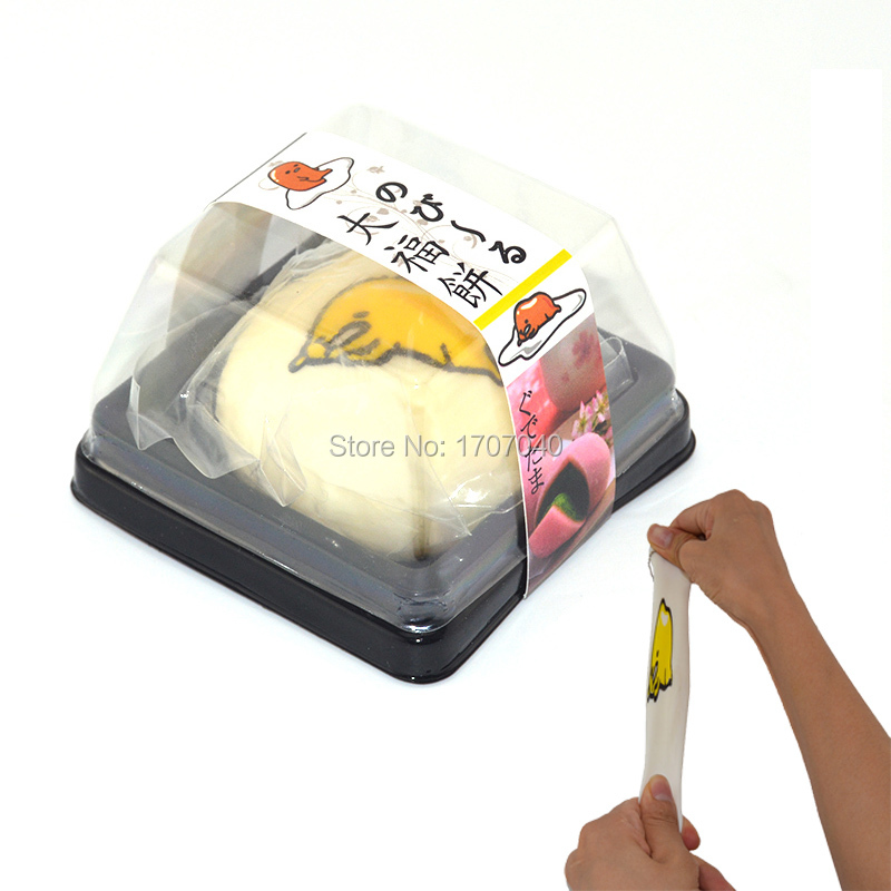 20 Pieces/lot Stretchable Scented Gudetama Squeeze Box Japanese Daifuku Mochi Food Toy Simulation Food Wholesale