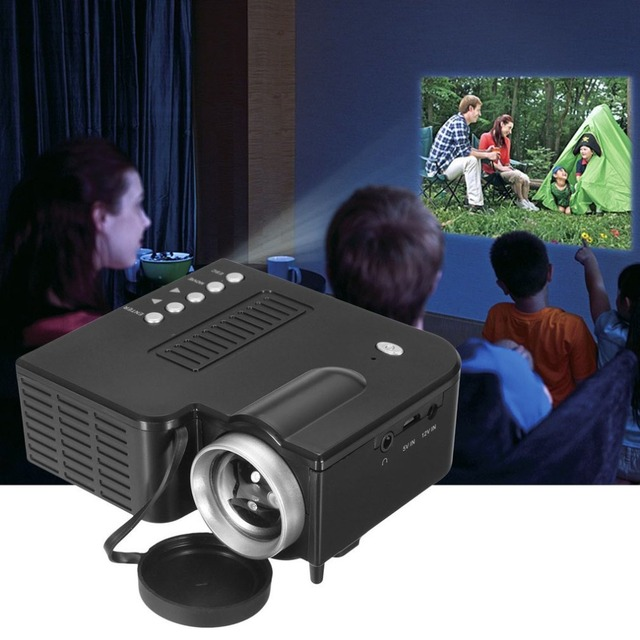 Best Offers UC28B Mini Portable LED Projector 1080P Multimedia Family Cinema Home Theater USB TF Card Input Mini Beamer For PC Laptop