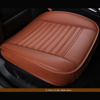PU Luxury Leather Car Seat Cover Four Seasons Anti Slip Mat Car Single Seat Cushion Cover Universal Auto Cool Waterproof Chair