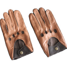 Men's Leather Breathable Driving Gloves