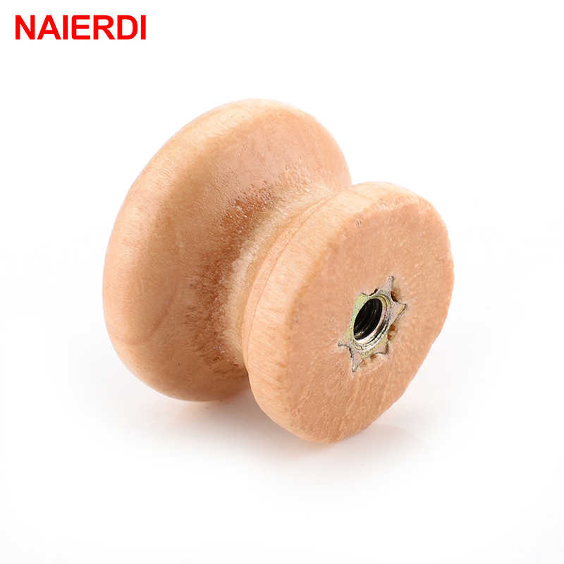 10 шт NAIERDI ручки 2,5X2 см из натурального дерева для шкафа, ящика для шкафа, ручки для шкафа, дверные ручки для кухни, мебельная фурнитура
