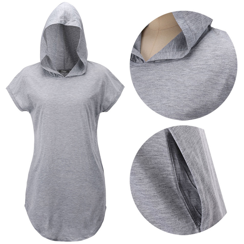 camisetas mujer gray hooded t shirt women womens tops fashion 2015 short sleeve tee shirts t-shirt woman clothes vetement femme