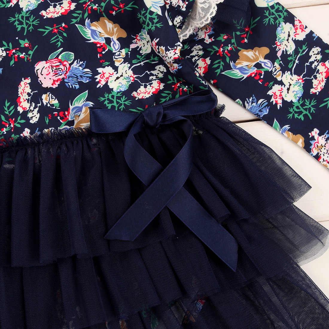 Платья для маленьких девочек; комбинезон с длинными рукавами и цветочным принтом для новорожденных; комбинезон для девочек; платье-пачка; одежда для детей