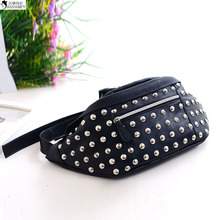 HANSOMFY     The New Pocket Bags Leisure Bags Wholesale Rivet Chest Unisex Bag Orange Small Satchel Han Cool Wind