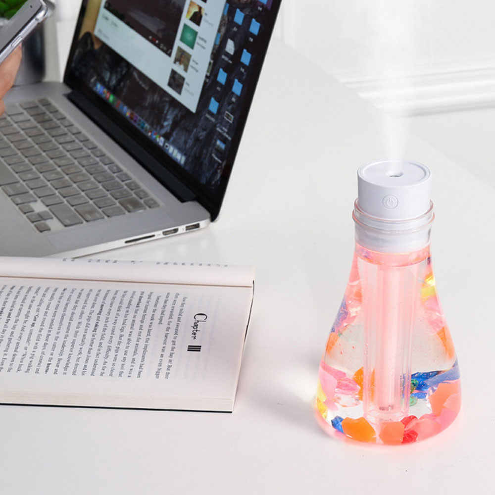 500 мл USB Желая бутылки увлажнитель воздуха с светодиодный ночник Воздухоочистители эфирное масло диффузор тумана, домашний автомобиля увлажнитель