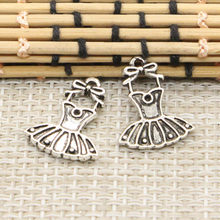 10pcs Charms ballet tutu dress ballerina skirt 20*16mm Tibetan Silver Plated Pendants Antique Jewelry Making DIY Handmade Craft(China)
