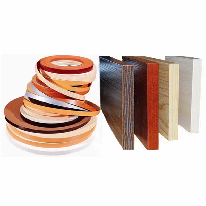 Hot Melt Pre Glued PVC Edge Banding MFC Wood Veneer Office Kitchen Wardrobe Furniture Board Panel Edgebanding 2cm 4cm X 5m Edger
