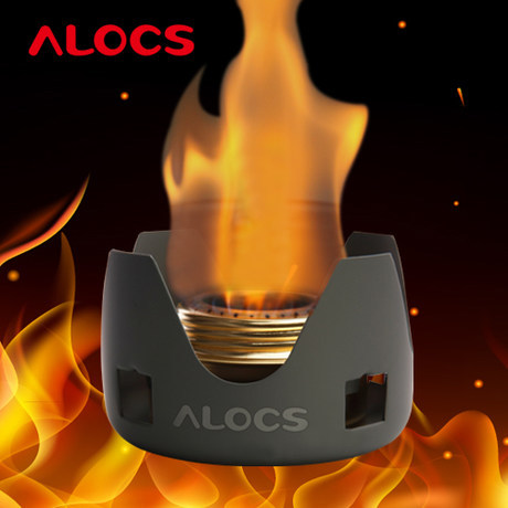 Asli Asal Alocs Brand outdoor picnic portable alcohol stove camping stove liquid solid alcohol stove with stand cs-b02