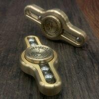 1PC Metal Hand Spinner Torqbar Brass Steel Balls Metal Fidget Spinner Stress Toys Handspinner Finger Gyro