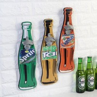 1PC 40cm Retro Beer Shaped Wall Bottle Opener Fine Beer Good Food Wall Mounted Wood Plaque