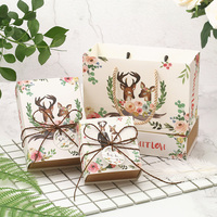 50 шт./лот мини милый мультфильм Свадебная коробка конфет, высокое качество небольшой свадебный подарок бумажная коробка сумка упаковочная ...