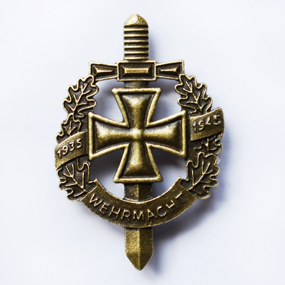 WW2 GERMAN WEHRMACHT WH MILITARY BADGE 1935-1945 WITH IRON CROSS