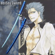 Cosplay Anime Bleach Sword Grimmjow Jeagerjaques Zanpakuto Japanese Real Carbon Steel Katana Sharp Edge