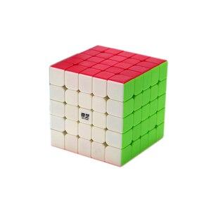Image 5 - Qiyi XMD 4 Cubi Set Cubo Magico Set Comprende 2x2 3x3x3 4x4x4 5x5x5 Stickeless Cubo per il Cervello di Formazione giocattoli Per Bambini