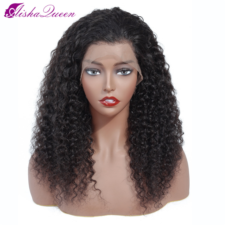 Brazilian Wig 13*5 Lace Frontal Wig Curly Lace Front Human Hair Wigs Pre-Plucked No Baby Hair Aisha Queen Non Remy Lace Wig
