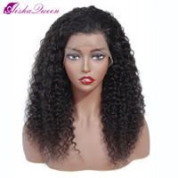 Brazilian Wig 13*5 Lace Frontal Wig Curly Lace Front Human Hair Wigs Pre Plucked No Baby Hair Aisha Queen Non Remy Lace Wig