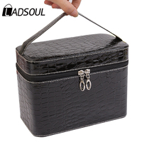 Ladsoul Fashion Women Cosmetic Bag Travel Makeup Make Up Organizer Box Beauty Bow Large Capacity Women