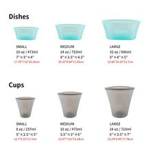 3Pcs Silicone Food Storage Containers Fresh Bowl Fridge Organizer Reusable Stand Up Zips Shut Bag Fruit Vegetable Cup With Seal