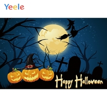 Yeele Halloween Photocall Tombs Pumpkin Witch Cross Photography Backdrops Personalized Photographic Backgrounds For Photo Studio